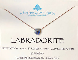 SHINE ~ Labradorite Flag Cord Necklace