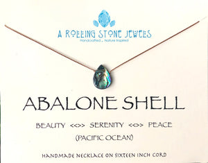 Abalone Shell Cord Necklace