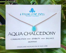 Load image into Gallery viewer, Costa Aqua Chalcedony Cord Necklace