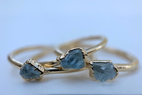 Aquamarine Stacking Ring || March