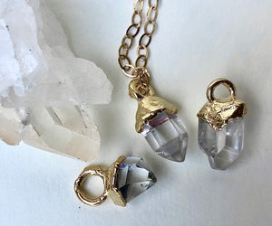 Herkimer Diamond Drop Necklace // April