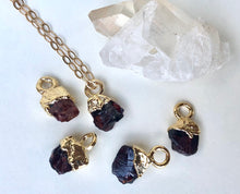Load image into Gallery viewer, Garnet Drop Necklace // January