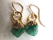 Load image into Gallery viewer, Emerald Drop Earrings