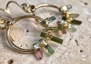 TOURMALINE RAINBOW EARRINGS