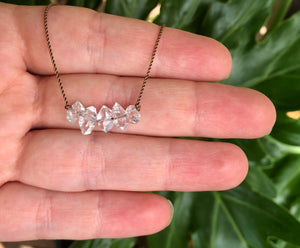 Herkimer 5-Diamond Cord Necklace