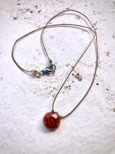 Load image into Gallery viewer, RED JASPER SILK NECKLACE