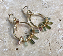 Load image into Gallery viewer, TOURMALINE RAINBOW EARRINGS