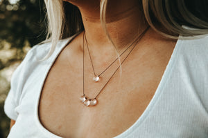 Rose Quartz Cord Necklace