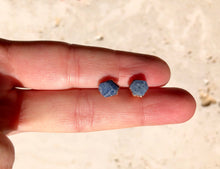 Load image into Gallery viewer, Raw Sapphire Studs // Copper