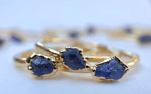 Tanzanite Stacking Ring || December