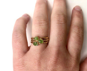 Peridot Stacking Ring || August