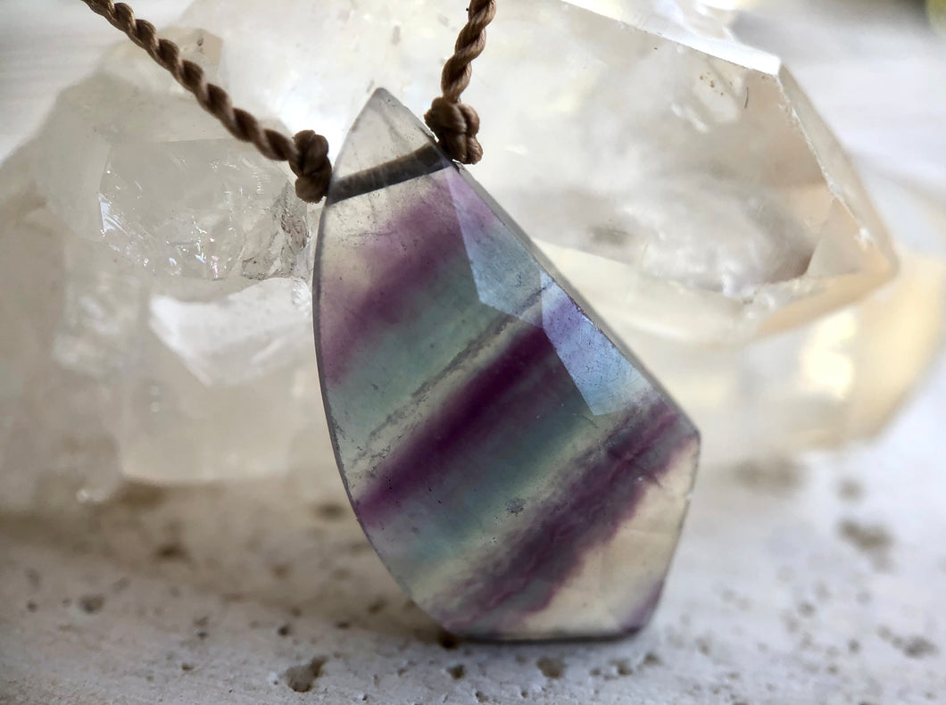 Fluorite Cord Necklace