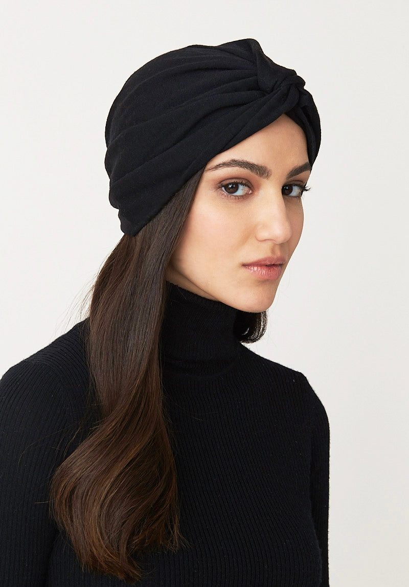 Wool Twist Turban- Black
