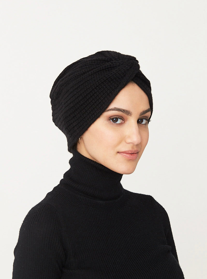 Cashmere Turban- Black