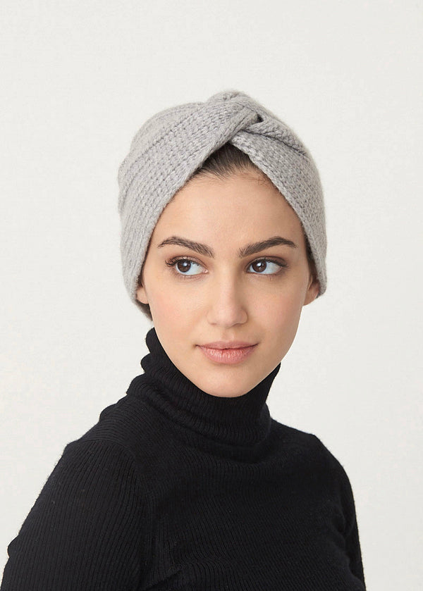 Cashmere Turban- Grey