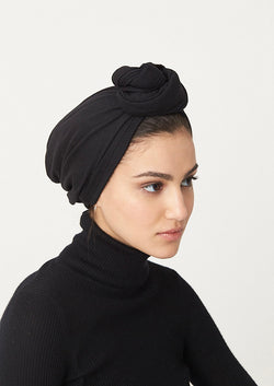 10-in-1 Wool Turban- Black