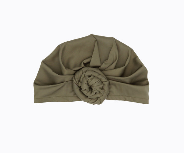 Top-Bun Turban- olive