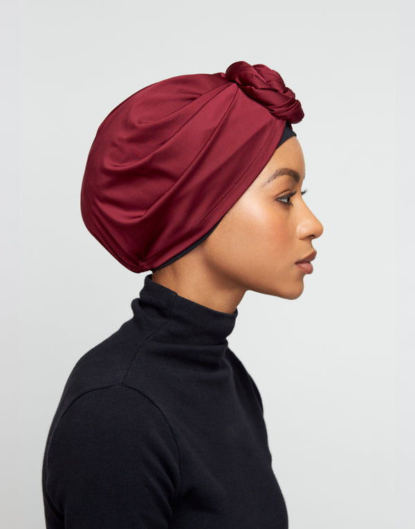 Top-Bun Turban- Rose