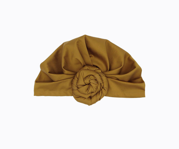Top-Bun Turban- vintage gold