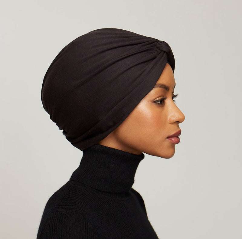 Micromodal Twist Turban- black