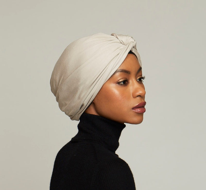 Micromodal Twist Turban- light beige