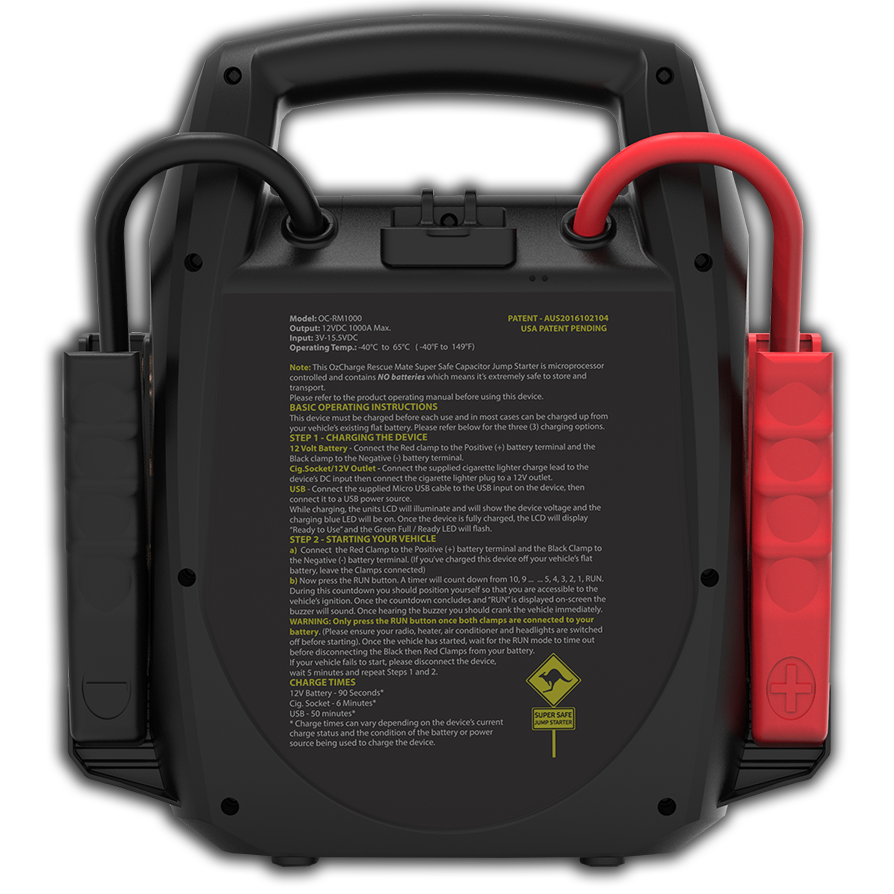 Rescue Mate 1000a Battery Less Jump Starter Ozcharge