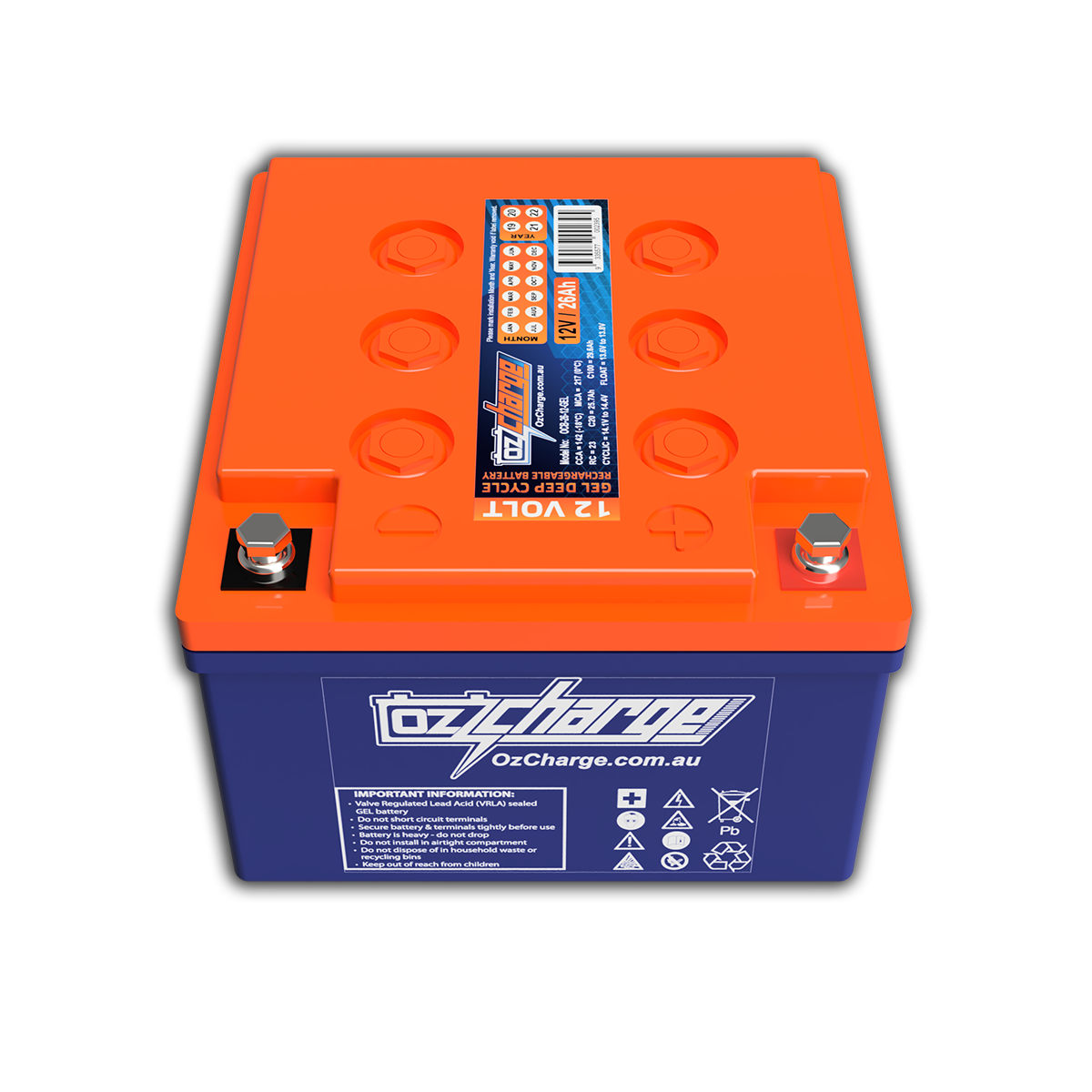 12V 26Ah GEL Deep-Cycle Battery