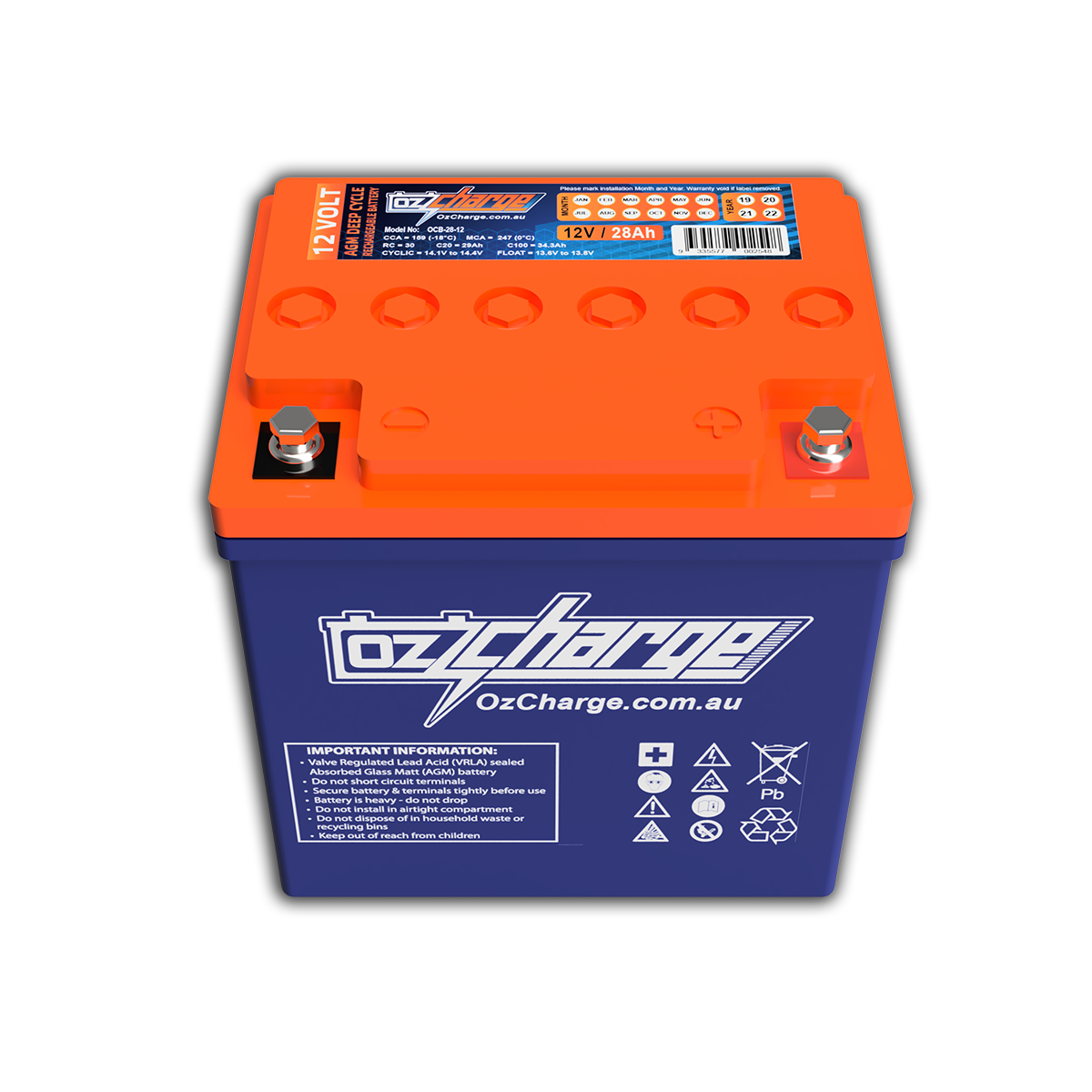 12V 28Ah AGM Deep-Cycle Battery
