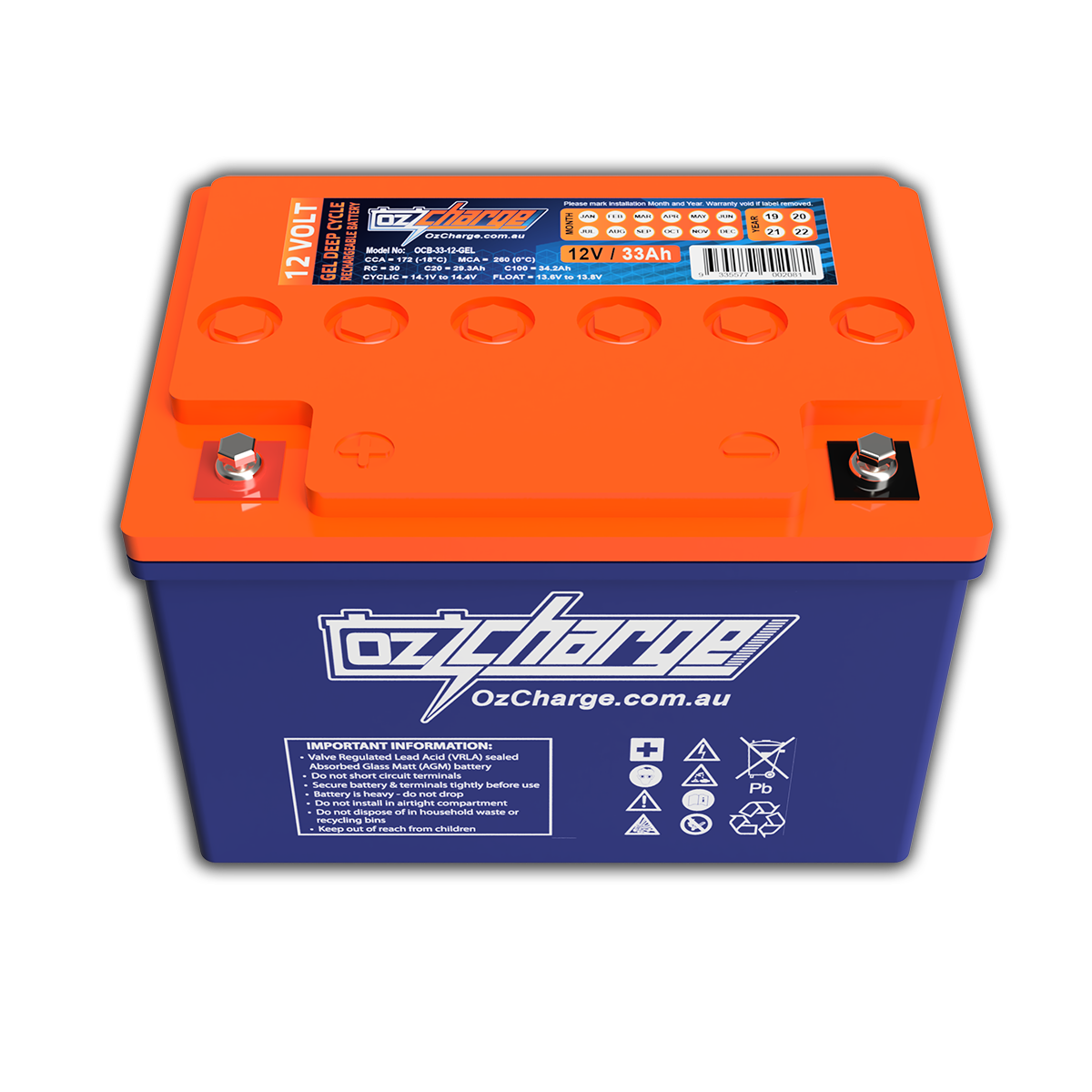 12V 33Ah GEL Deep-Cycle Battery