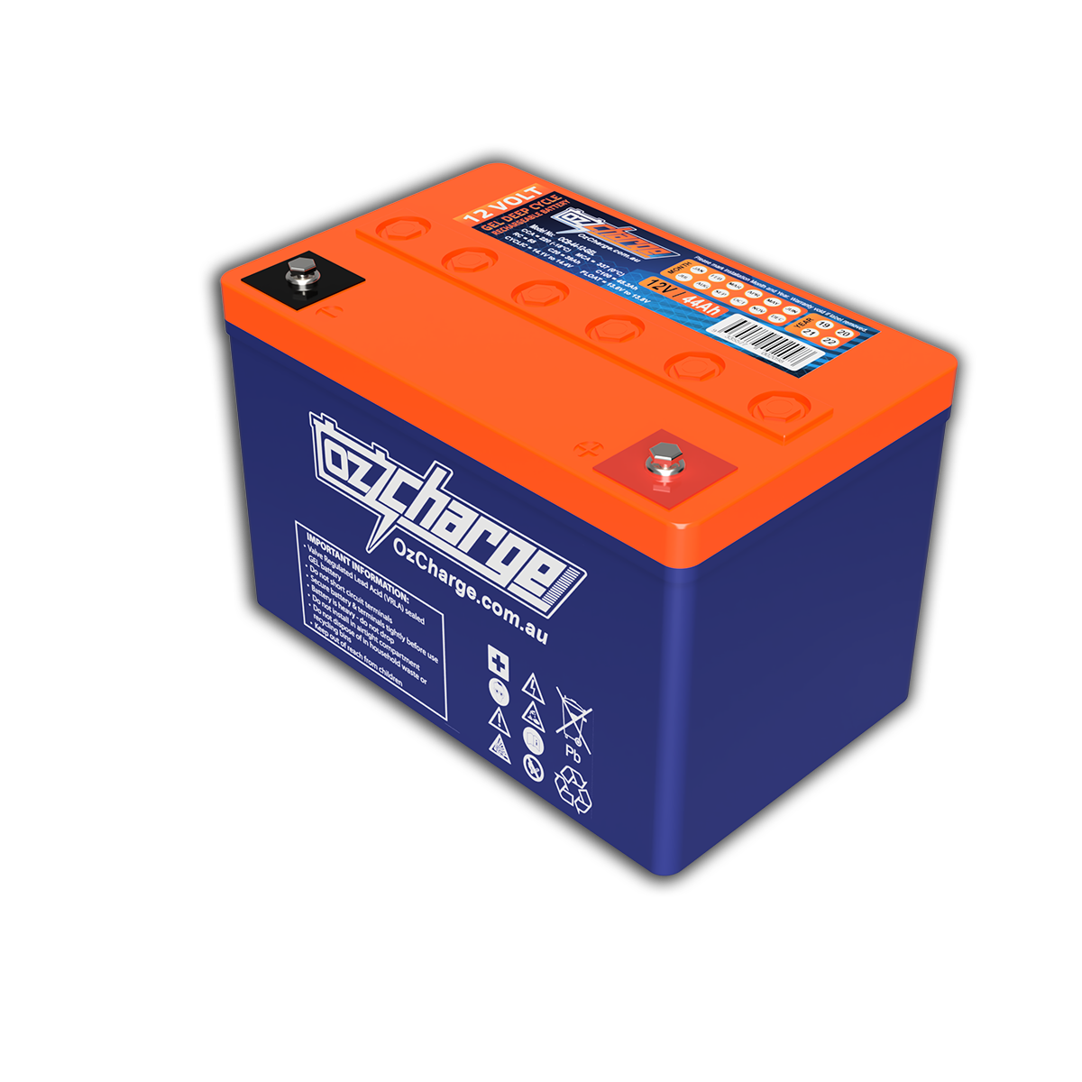 12V 44Ah GEL Deep-Cycle Battery