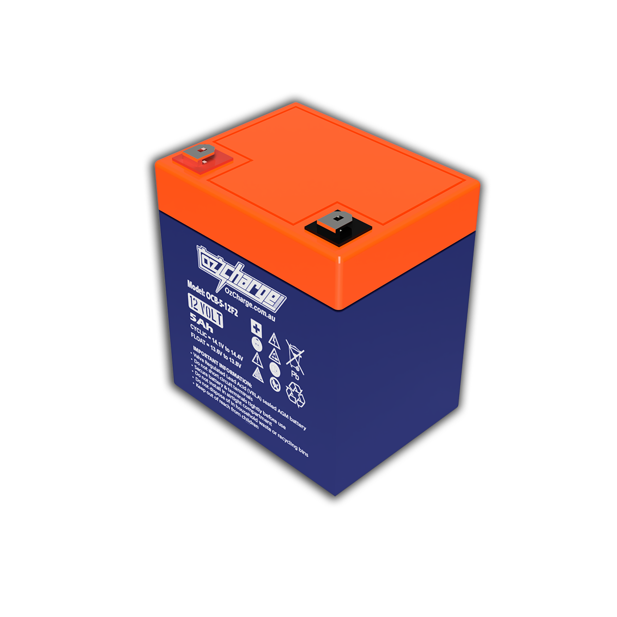 12V 5Ah AGM Deep-Cycle Battery
