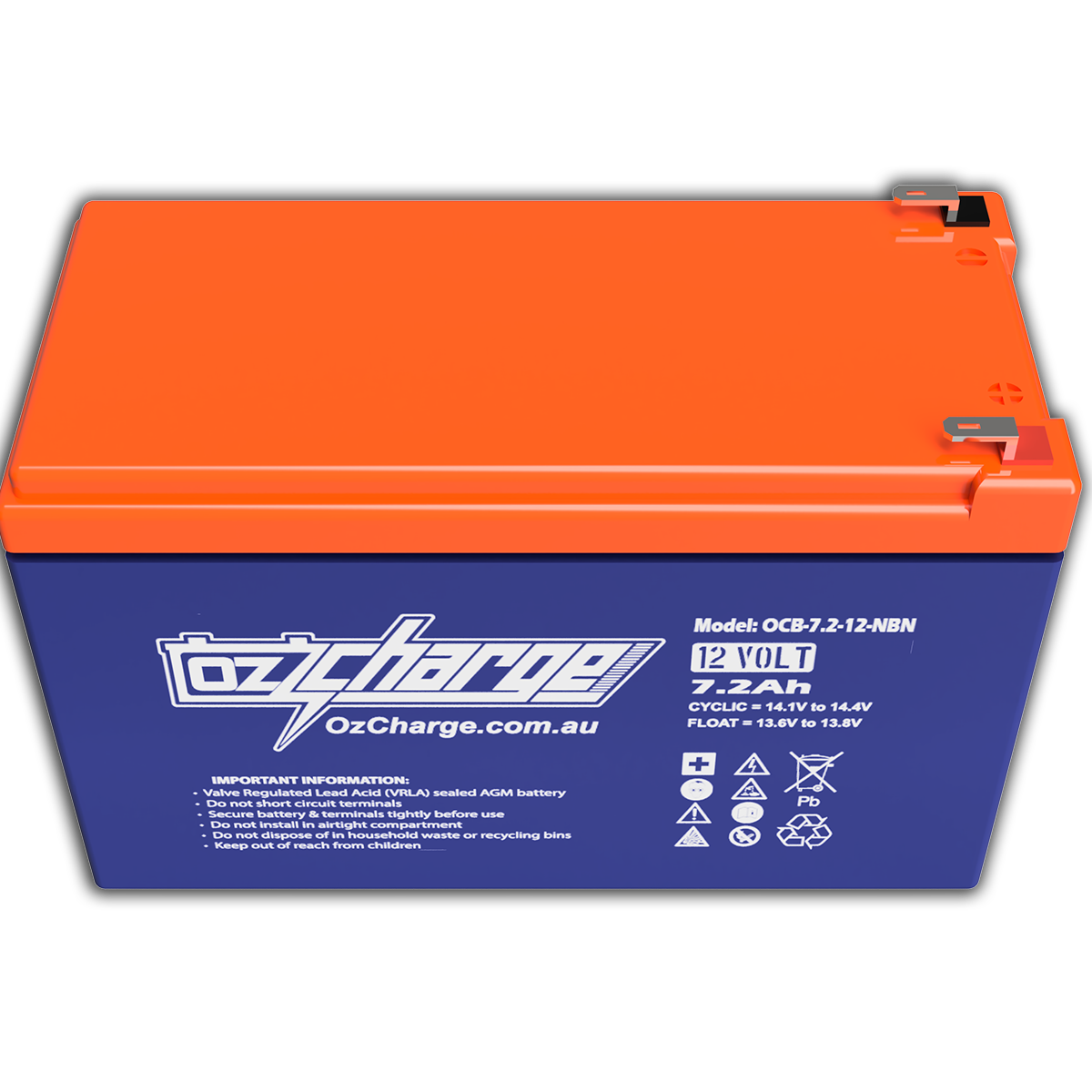 NBN Replacement Battery 12V 7.2AaH