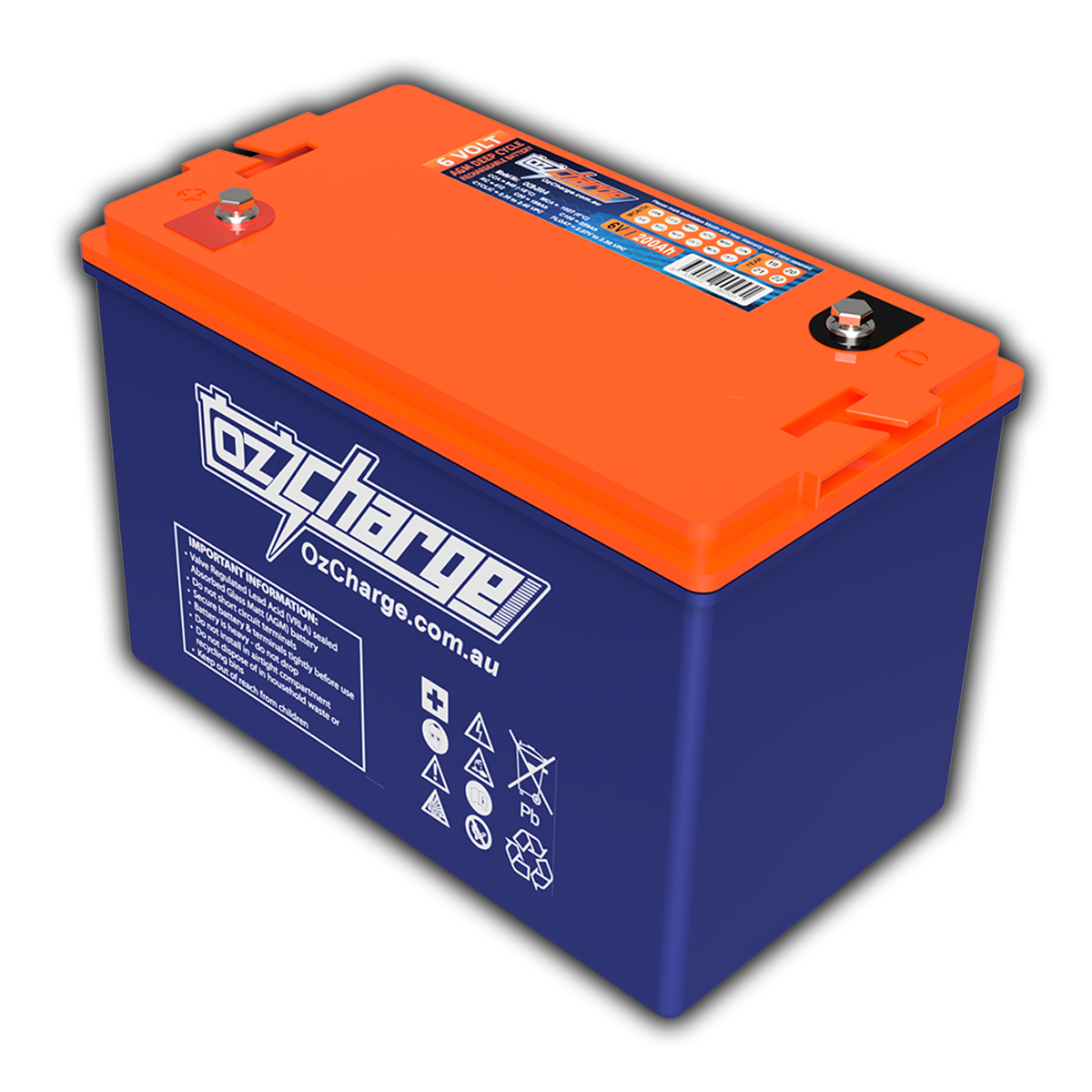 6V 200Ah AGM Deep-Cycle Battery