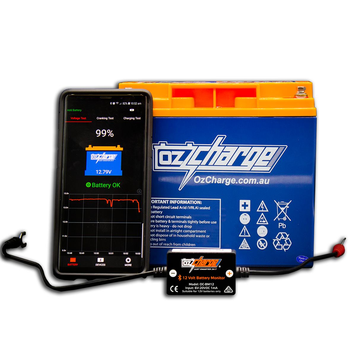 12 Volt Bluetooth Battery Monitor