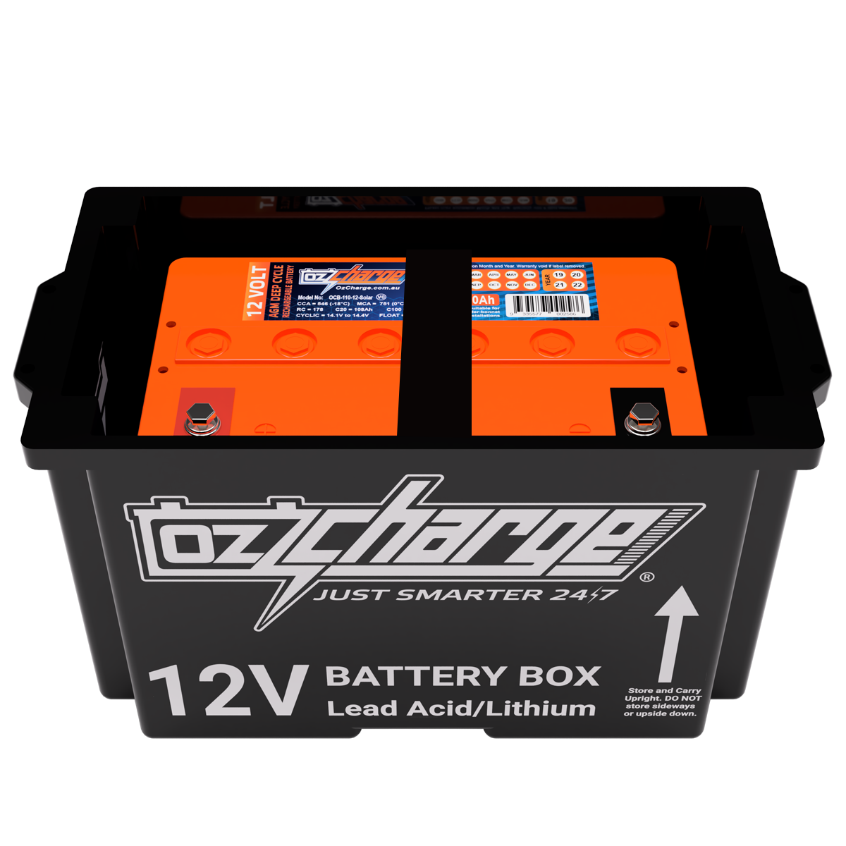 12V Beast Battery Box + 110Ah AGM Battery Combo