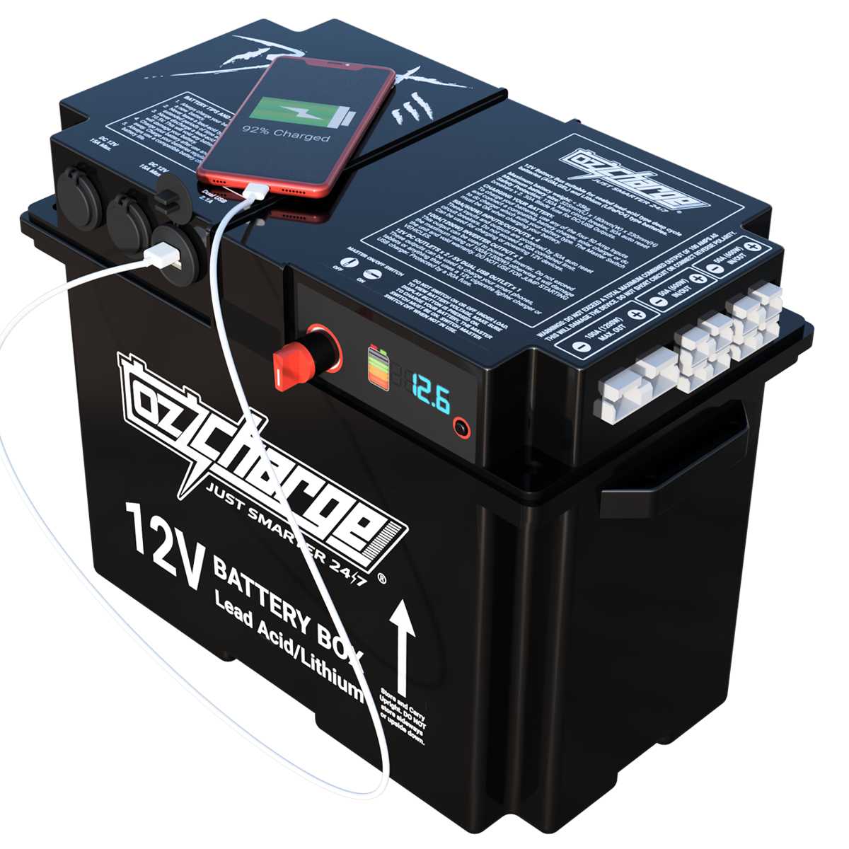 12V Beast Battery Box + 120Ah AGM Battery Combo