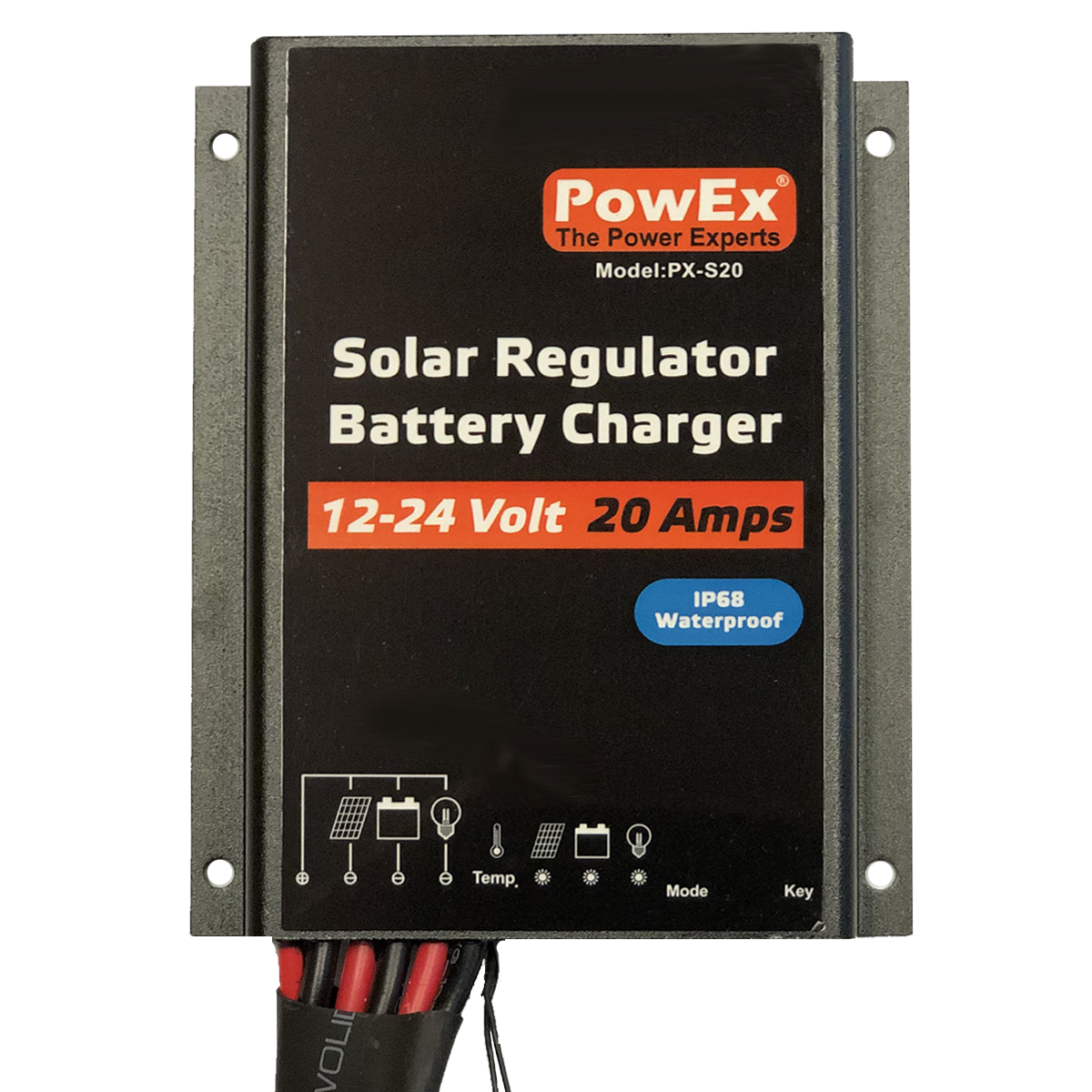 12/24V 20A Solar Controller with Load Control - IP68