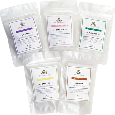 Bath Tea Luxury Set  (Set of 5 Unique Scents)