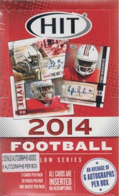 2014 Sage Hit Low # Football Hobby Box