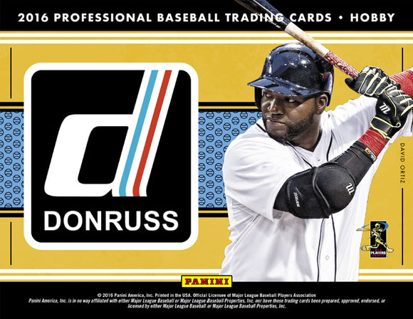 2016 Donruss Baseball Hobby Box