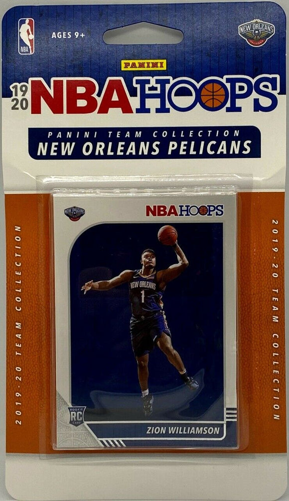 2019-20 Panini Hoops Pelicans Team Set with Zion Williamson Rc Card