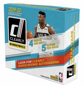 2019-20 Panini Clearly Donruss NBA Basketball Hobby Box *