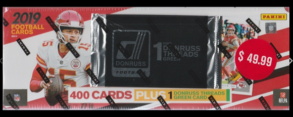2019 Donruss Football Factory 350 Card Set + Bonus