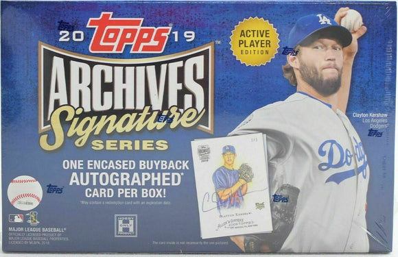 2019 Topps Archives Signature Active Players Edition Baseball Hobby Box