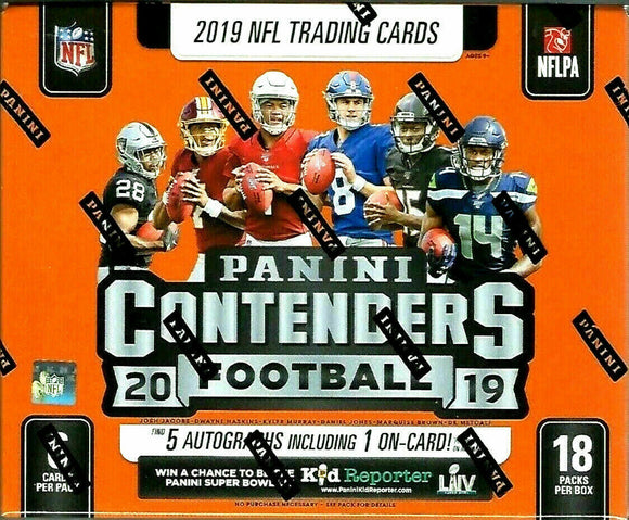 2019 Panini Contenders NFL Football Hobby Box