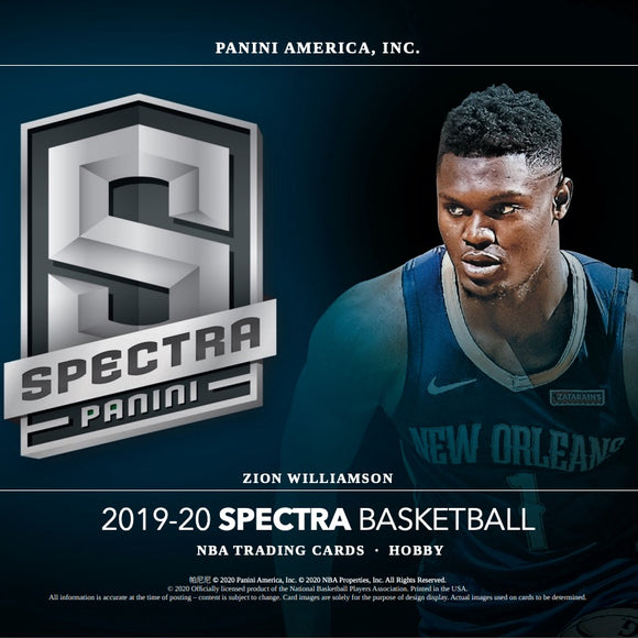 2019-20 Panini Spectra Basketball Hobby Box (Call List)
