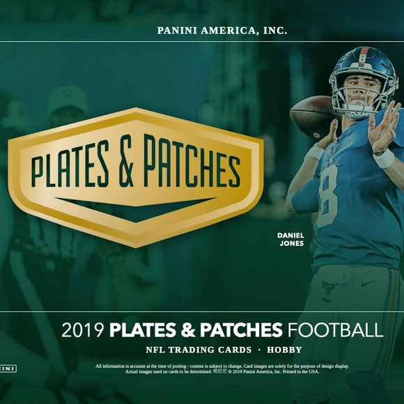 2019 Plates and Patches Football Hobby Box