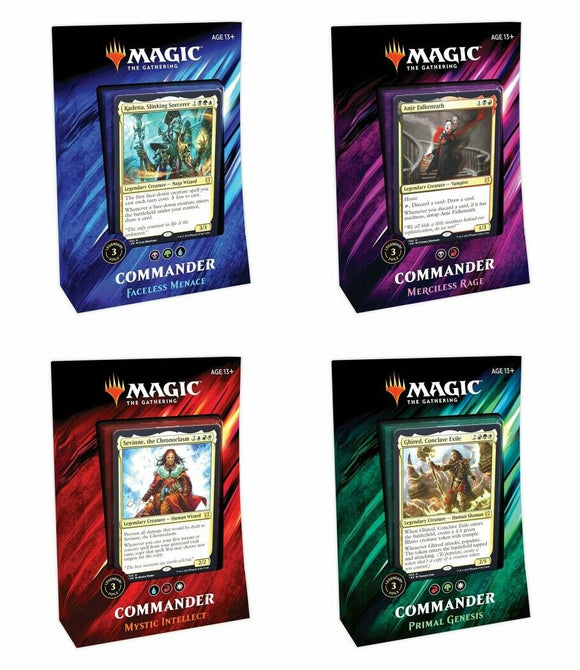 MTG Commander 2019 4 Deck Set