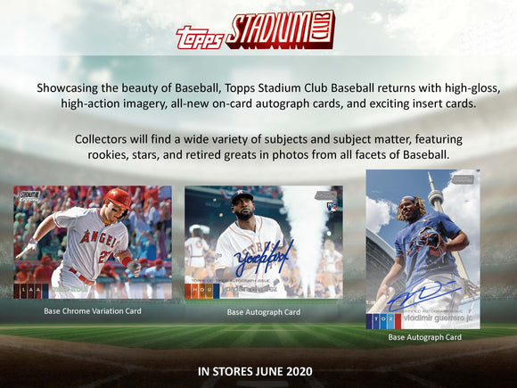 2020 Topps Stadium Club Hobby Box