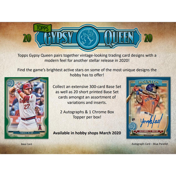 2020 Topps Gypsy Queen Baseball Hobby Box